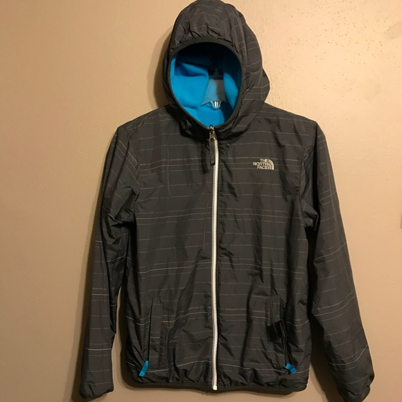 72844eb6 North Face Boys Reversible Rain & Fleece Jacket